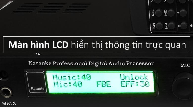 Vang số PDCJ X5 | màn hình LCD hiển thị thông tin trực quan