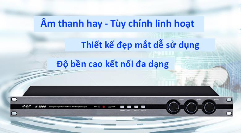 Vang số AAP K-5500 | Thiết bị âm thanh số một Việt Nam