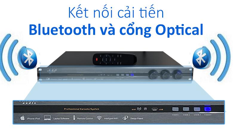 Vang số AAP S1000 | Cổng kết nối Blutooth và Optical cải tiến