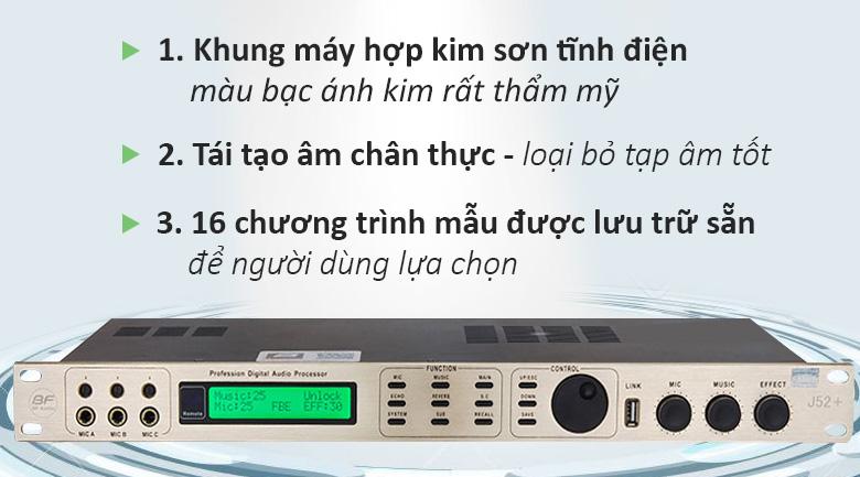 Vang số BF Audio J52   Các tính năng ưu Việt nhất