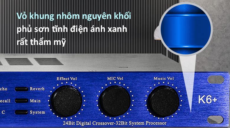 Vang số BF Audio K6 Plus | vỏ khung nhôm nguyên khối