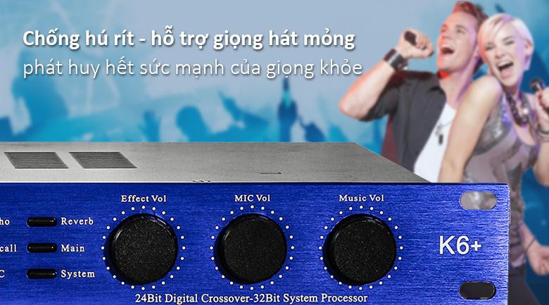 Vang số BF Audio K6 Plus | Chống hú rít hỗ trợ giọng hát mỏng