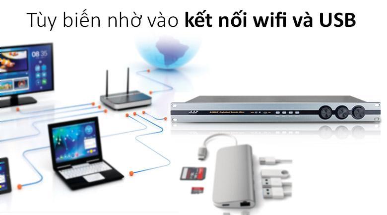 Vang số AAP K1000 II | tùy biến nhờ vào kết nối wifi và USB