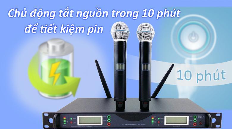 Micro Shure UR24D | tiết kiệm năng lượng