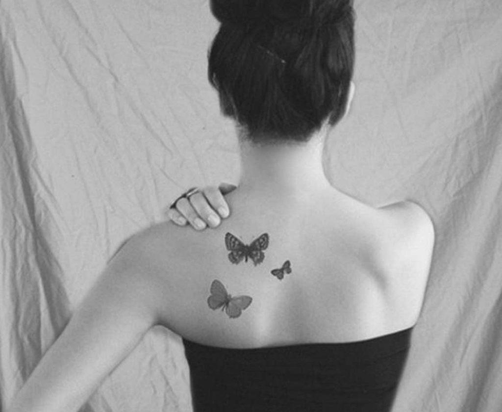 Xăm hình 3 chú bướm đáng yêu